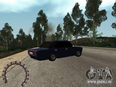 VAZ 2107 BPAN für GTA San Andreas zurück linke Ansicht