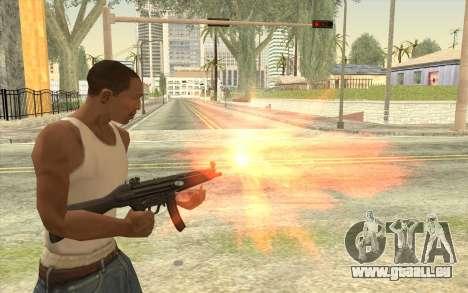 HK MP5 pour GTA San Andreas troisième écran