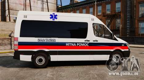 Mercedes-Benz Sprinter Zagreb Ambulance [ELS] für GTA 4 linke Ansicht