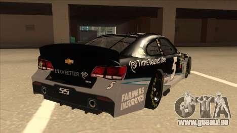 Chevrolet SS NASCAR No. 5 Time Warner Cable pour GTA San Andreas vue de droite