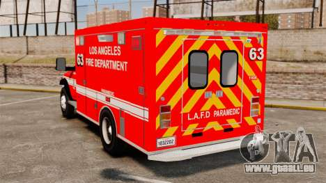 Dodge Ram 3500 2011 LAFD Ambulance [ELS] für GTA 4 hinten links Ansicht
