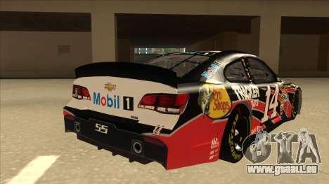 Chevrolet SS NASCAR No. 14 Mobil 1 Tracker Boats pour GTA San Andreas vue de droite