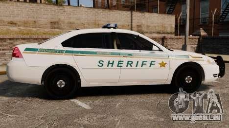 Chevrolet Impala BCSD 2010 [ELS] pour GTA 4 est une gauche