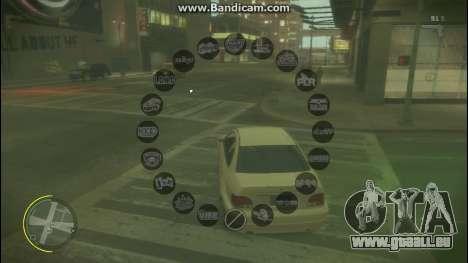 GTA V Radio HUD für GTA 4 Sekunden Bildschirm