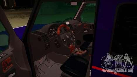 Mercedes Benz G8 Carabinieri pour GTA San Andreas vue intérieure