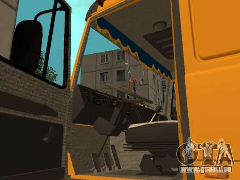 MAZ 53366 für GTA San Andreas Rückansicht