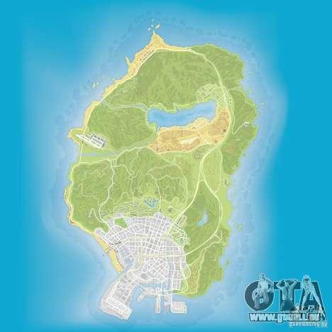 GTA V atlas map pour GTA San Andreas troisième écran
