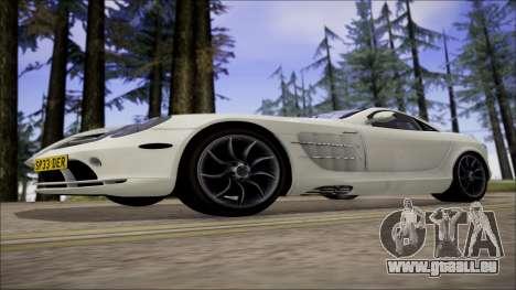 Mercedes-Benz SLR Mclaren für GTA San Andreas Rückansicht