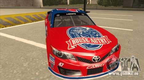 Toyota Camry NASCAR No. 47 House-Autry pour GTA San Andreas laissé vue