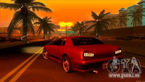 Elegy 2013 JDM pour GTA San Andreas sur la vue arrière gauche