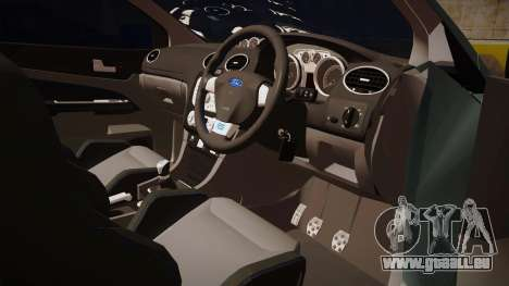 Ford Focus RS 2010 für GTA San Andreas Rückansicht