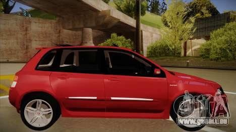 FIAT Stilo Sporting 2009 für GTA San Andreas zurück linke Ansicht