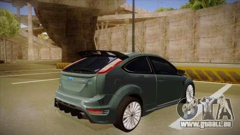 Ford Focus RS 2010 pour GTA San Andreas vue de droite