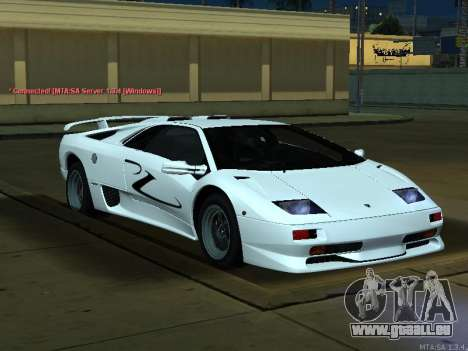 Lamborghini Diablo SV v2 pour GTA San Andreas vue de droite