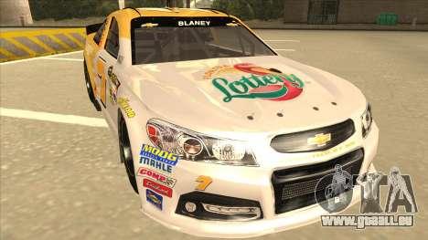 Chevrolet SS NASCAR No. 7 Florida Lottery für GTA San Andreas linke Ansicht