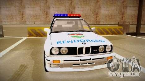 BMW M3 E30 Rendőrség pour GTA San Andreas laissé vue