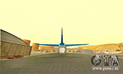Andromada GTA V pour GTA San Andreas sur la vue arrière gauche