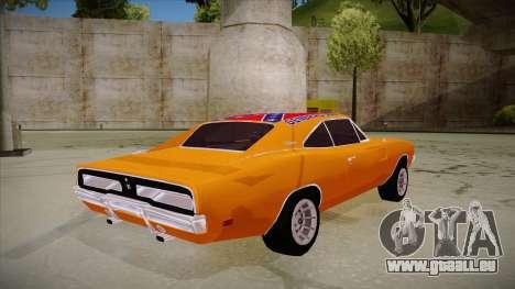 Dodge Charger 1969 (general lee) für GTA San Andreas rechten Ansicht