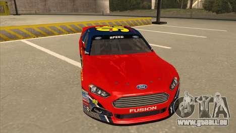 Ford Fusion NASCAR No. 95 pour GTA San Andreas laissé vue
