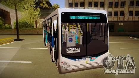 Busscar Urbanuss Pluss 2009 pour GTA San Andreas laissé vue