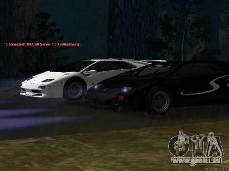 Lamborghini Diablo SV v2 pour GTA San Andreas laissé vue