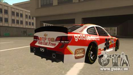 Chevrolet SS NASCAR No. 36 Golden Corral für GTA San Andreas rechten Ansicht