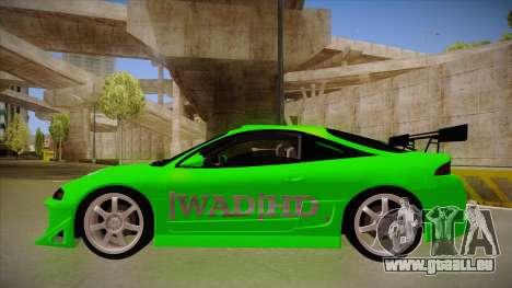 Mitsubishi Eclipse GSX 1996 [WAD]HD pour GTA San Andreas sur la vue arrière gauche