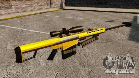 Le Barrett M82 sniper rifle v3 pour GTA 4 secondes d'écran