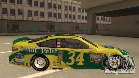 Ford Fusion NASCAR No. 34 Peanut Patch pour GTA San Andreas sur la vue arrière gauche