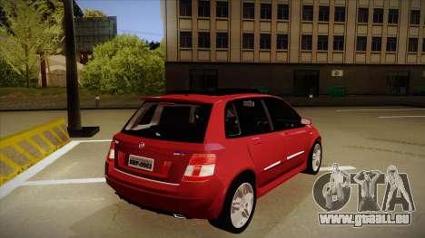 FIAT Stilo Sporting 2009 pour GTA San Andreas vue de droite