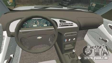 Vaz-2123 v1.1 pour GTA 4 est une vue de l'intérieur
