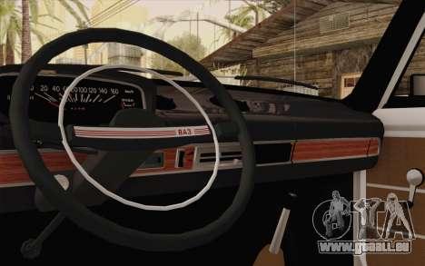 VAZ 21011 assistance médicale pour GTA San Andreas vue intérieure