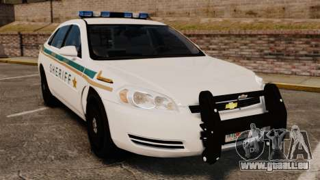 Chevrolet Impala BCSD 2010 [ELS] pour GTA 4