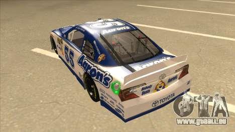 Toyota Camry NASCAR No. 55 Aarons DM white-blue für GTA San Andreas Rückansicht