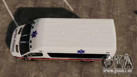 Mercedes-Benz Sprinter Zagreb Ambulance [ELS] für GTA 4 rechte Ansicht