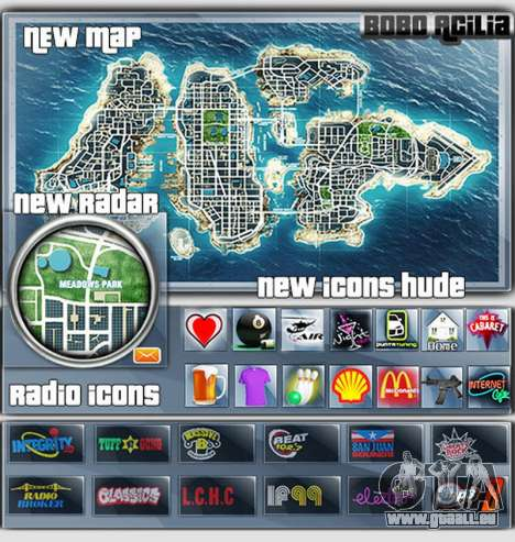 Map-Radar-HUD Pack für GTA 4