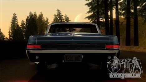 Pontiac Tempest LeMans GTO Hardtop Coupe 1965 pour GTA San Andreas vue intérieure
