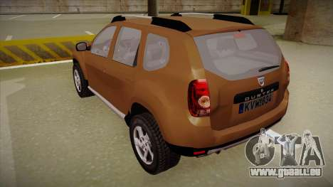 Dacia Duster Elite pour GTA San Andreas vue arrière