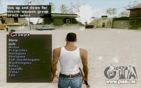Weapons Menu Mod für GTA San Andreas