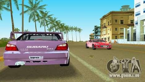 Subaru Impreza WRX v1.1 pour GTA Vice City vue latérale