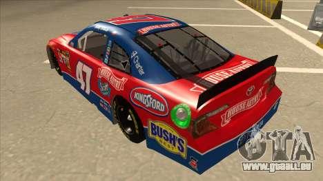Toyota Camry NASCAR No. 47 House-Autry für GTA San Andreas Rückansicht