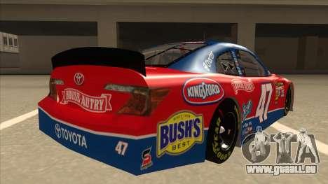 Toyota Camry NASCAR No. 47 House-Autry für GTA San Andreas rechten Ansicht