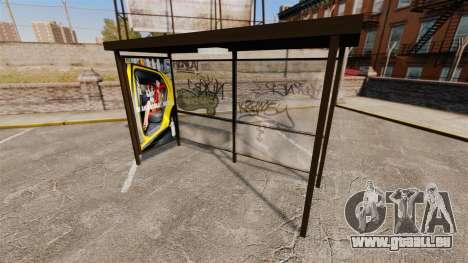 Echte Werbung an Bushaltestellen für GTA 4 fünften Screenshot