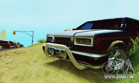 Landstalker nouveau pour GTA San Andreas sur la vue arrière gauche
