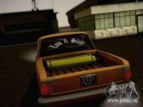 VAZ 2101 Resto pour GTA San Andreas sur la vue arrière gauche