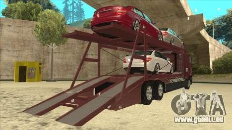 International 9700 Car Hauler pour GTA San Andreas vue de droite