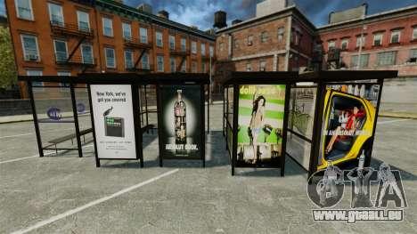 Publicité réelle aux arrêts d'autobus pour GTA 4