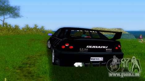 Subaru Impreza WRX v1.1 für GTA Vice City rechten Ansicht