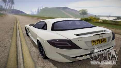 Mercedes-Benz SLR Mclaren für GTA San Andreas rechten Ansicht