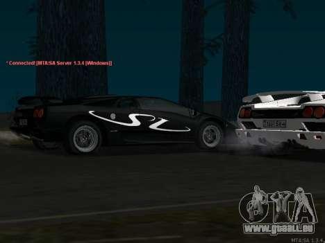 Lamborghini Diablo SV v2 pour GTA San Andreas sur la vue arrière gauche